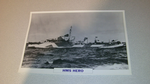 HMS Hero 1936 British warship framed picture
